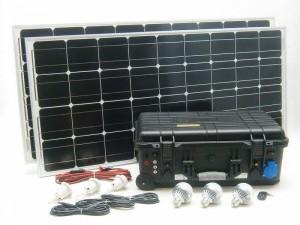Solárny  systém 200W 230V, 12V, USB